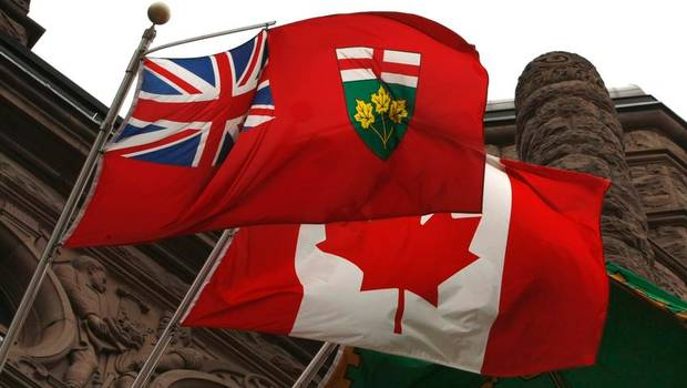 Picture of Ontario flag